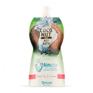 Tropiclean-  Coconut Milk Pet Bath Sweet Pea and Coconut- szamponetka dla psów - 355ml